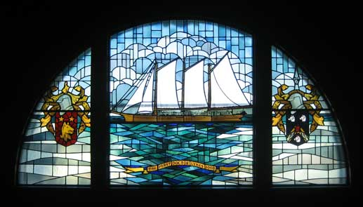 Lykes Gallery stained glass window