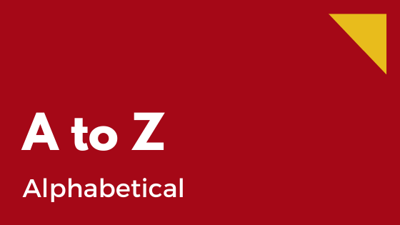 alphabetical - a to z