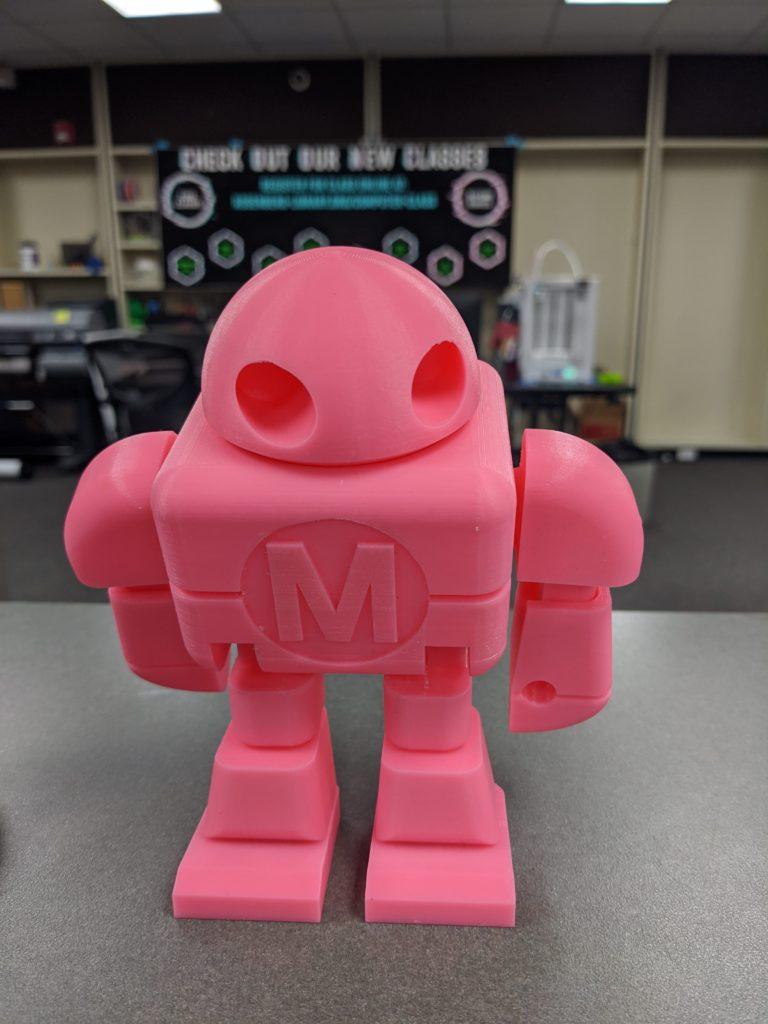 Pink M Robot 3D Printing