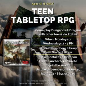 Teen Tabletop RPG