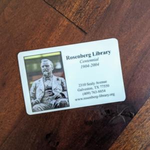 Rosenberg Library Card - Square