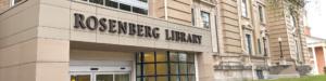 Website Header - Exterior of Rosenberg Library