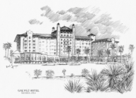 Galvez Hotel coloring page
