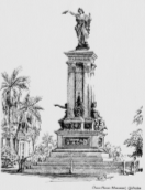 Texas Heroes Monument coloring page