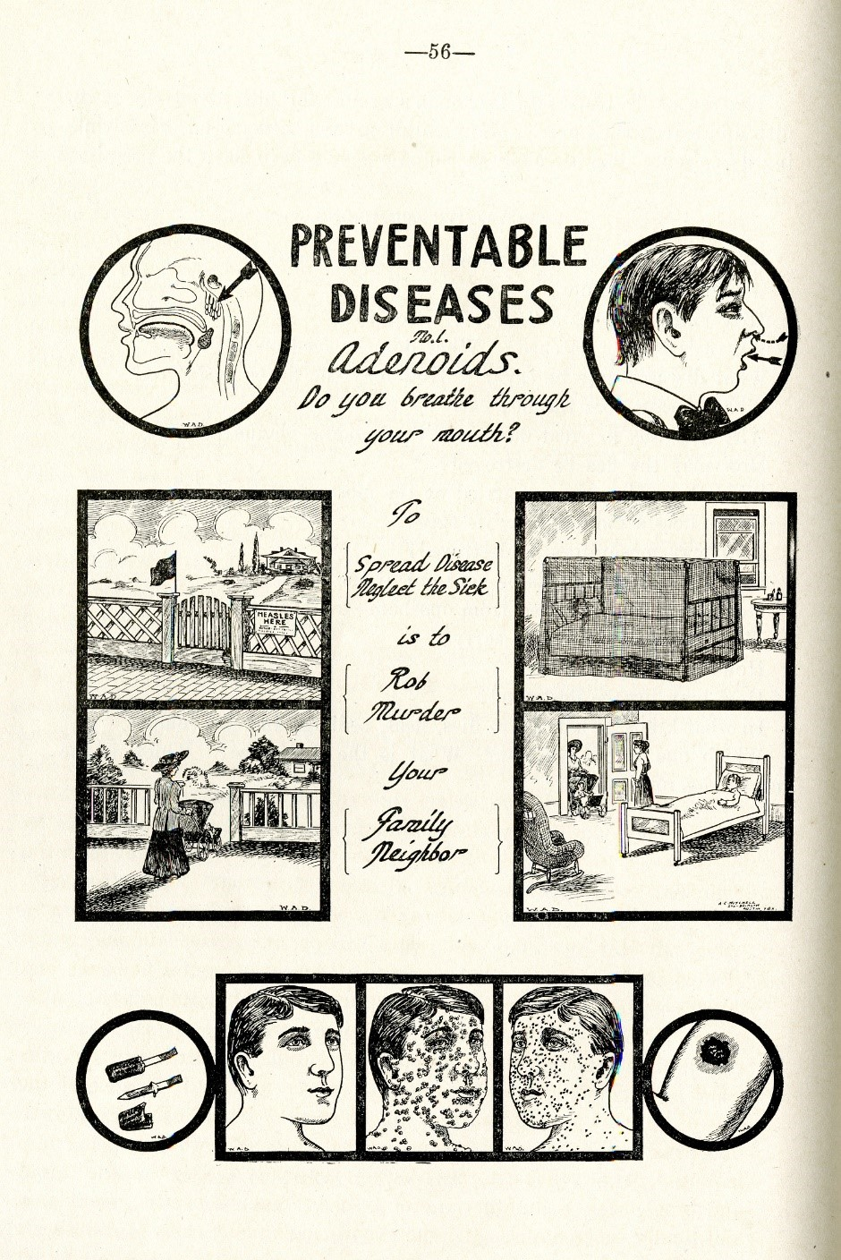 Publication from the Texas State Board of Health about preventing contagious diseases. Courtesy of the Rosenberg Library.