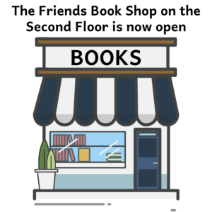 Join us on June 29, 2020 as the Friends' Bookshop on the 2nd floor is reopening! Become a Friends' Member to be notified of sales and specials.
