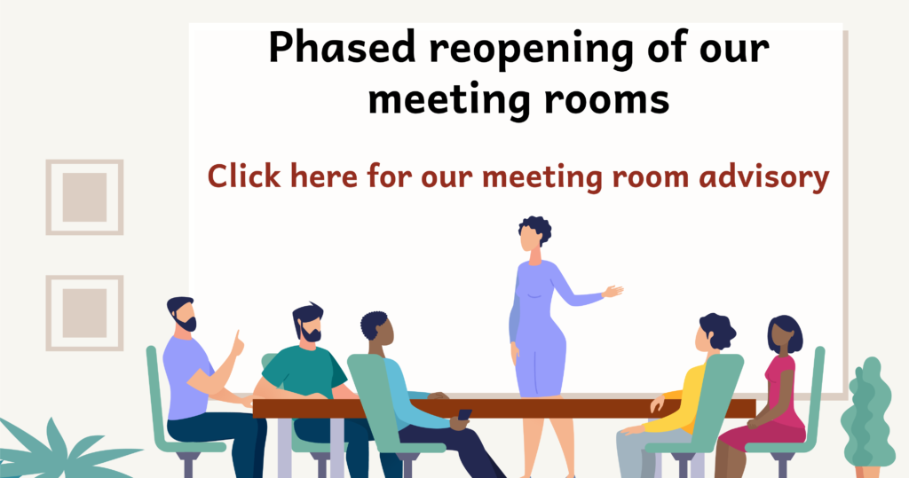 Click here for our meeting room advisory.