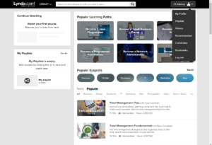 Click 'Save' and you will enter your dashboard page. On this page you will be able to keep track of the courses you are taking and completed, along with bookmarks, certificates received, and course history.