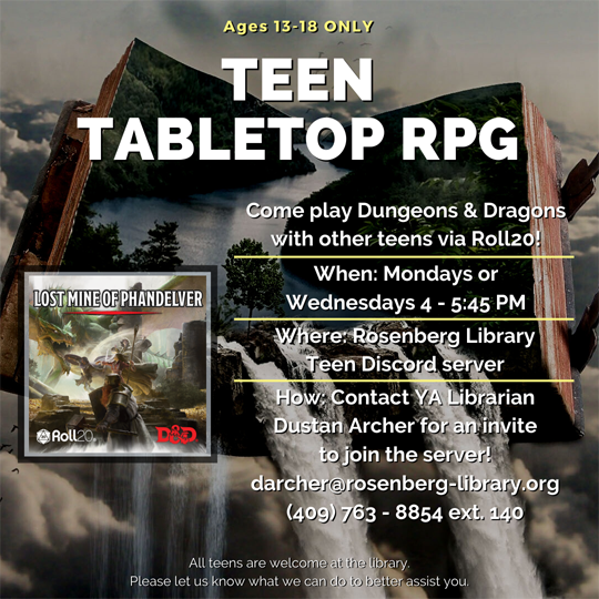Teen Tabletop RPG
