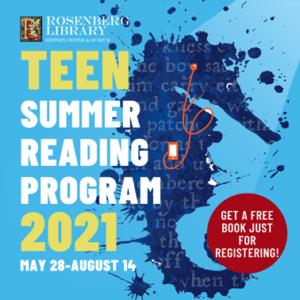 Teen Summer Reading program. May 28 - August 14.